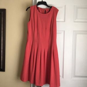 Coral colored Andrew Marc dress